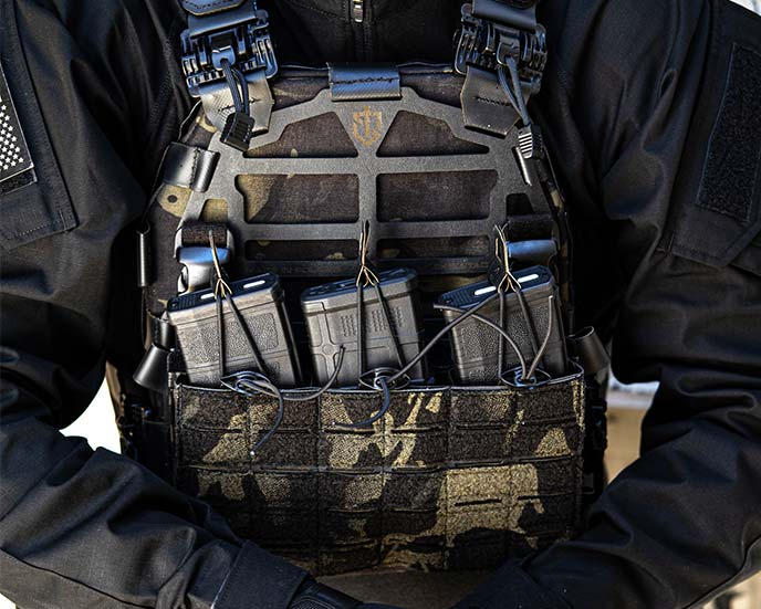 """Skeletac Plate Carrier Level 3 11x14"""" Armor Plates Plate Bags"""