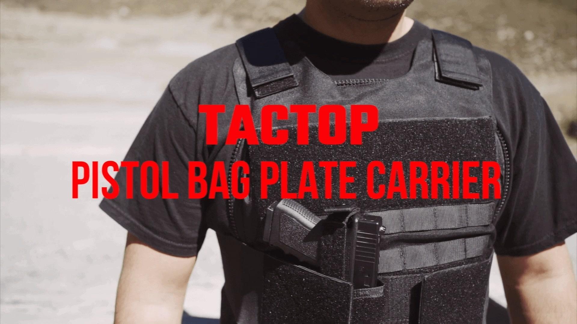 Tactop Convertable Plate Carrier Pistol Bag