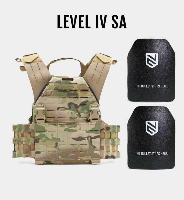 2x Level IV Armor Plate Stand Alone