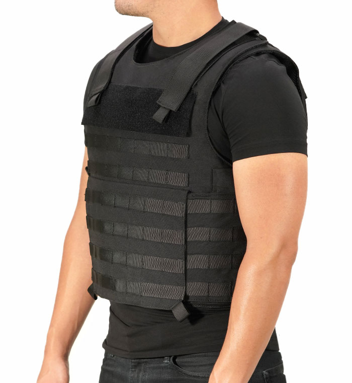 person wearing bulletproof vest