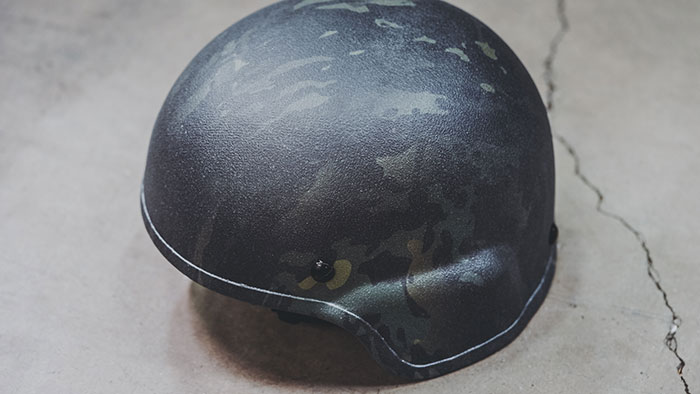 MICH Ballistic Helmet Black Multicam