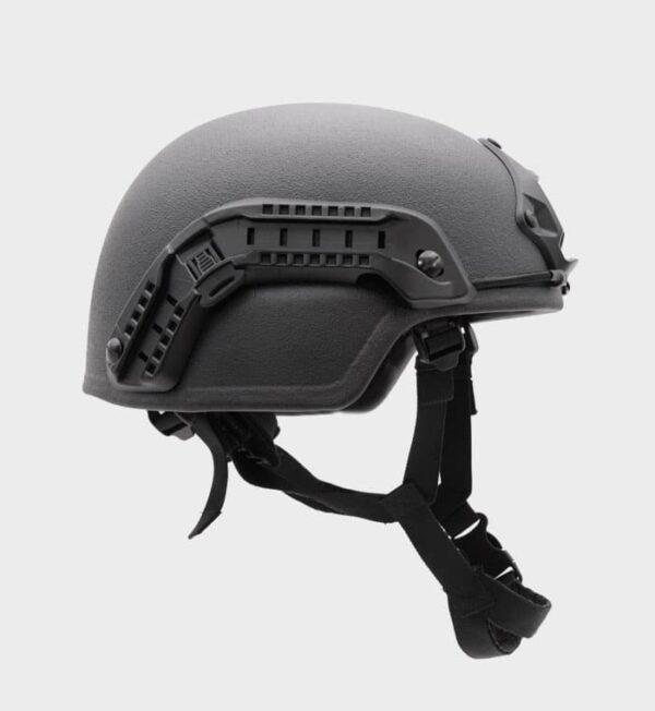 Ballistic helmet with side rail